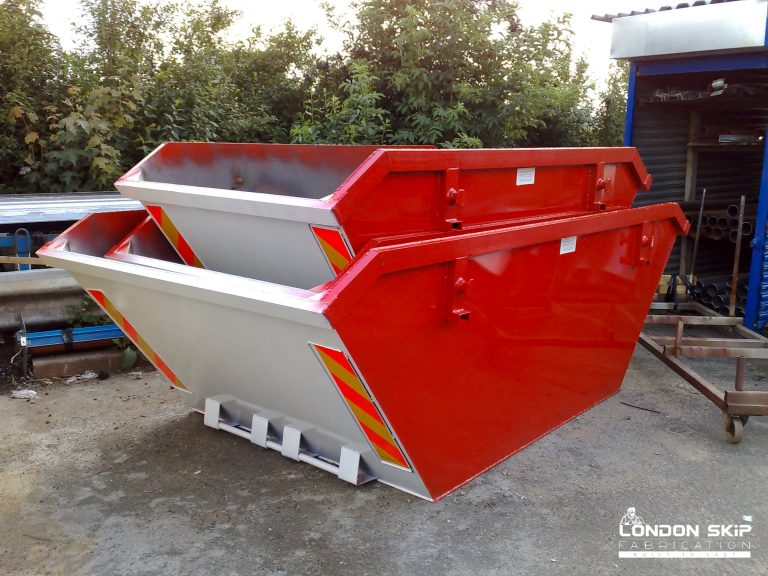 Red and grey open skip
