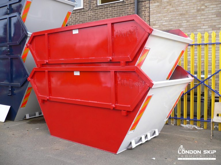 White and red open skips