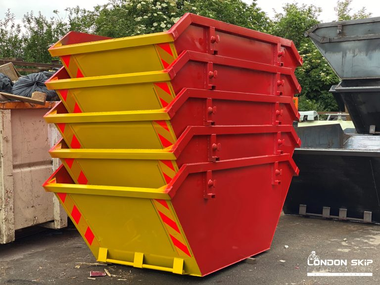 Yellow and red open skips