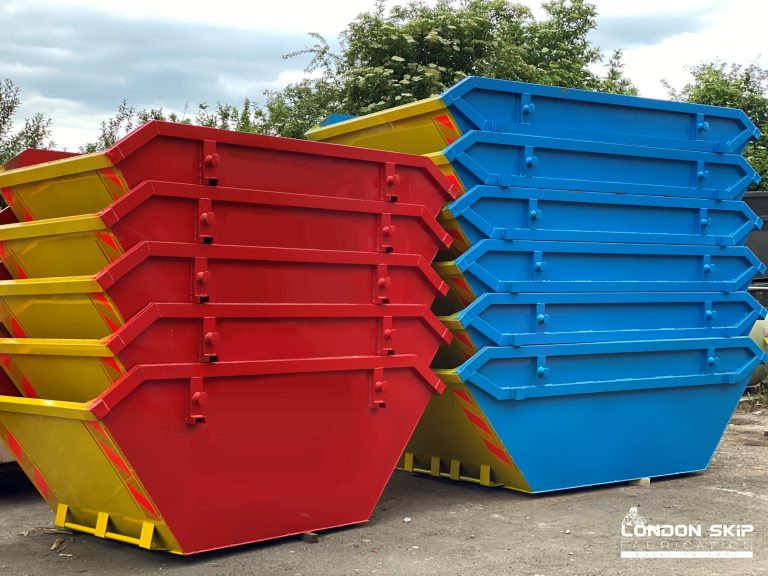 Yellow, red and yellow, blue open skips