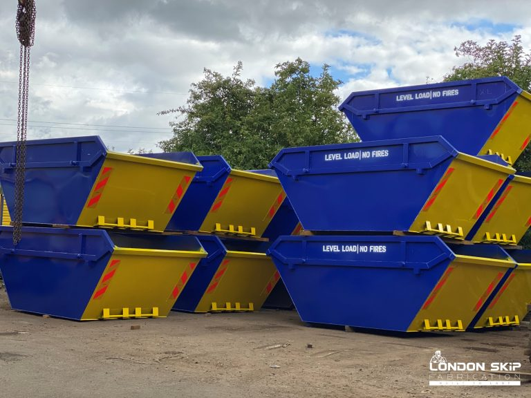 Yellow and blue open skips